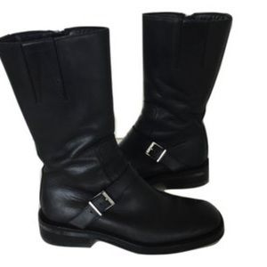 Gucci Shoes - GUCCI black leather boots. 8.5